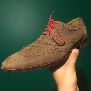 Cole Haan Grand Os Nubuck Wingtip Oxford Shoes 11m